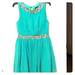 Mint Colored Party Dress